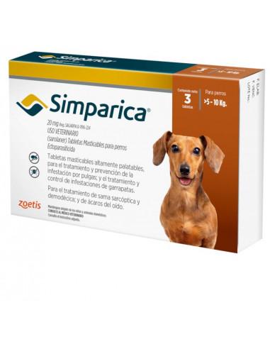 Simparica 20 Mg Caja 3 Tabletas