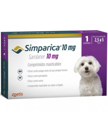Simparica 10Mg Caja 1 Tableta