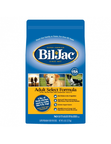 Bil Jac Select Adult Dog Food 2,7 Kg...