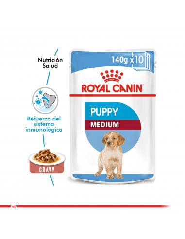 Royal Canin Medium Puppy Pouch Caja...