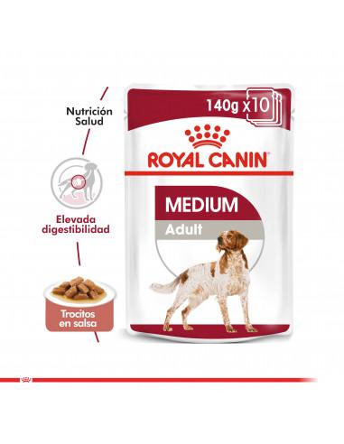 Royal Canin Medium Adulto Pouch Caja...